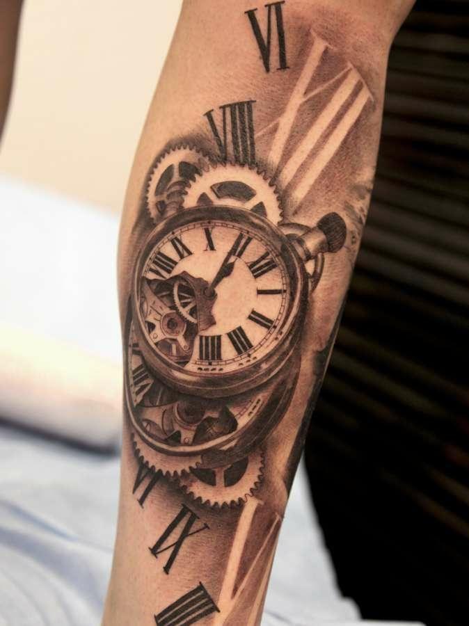 tatuaje reloj 3d