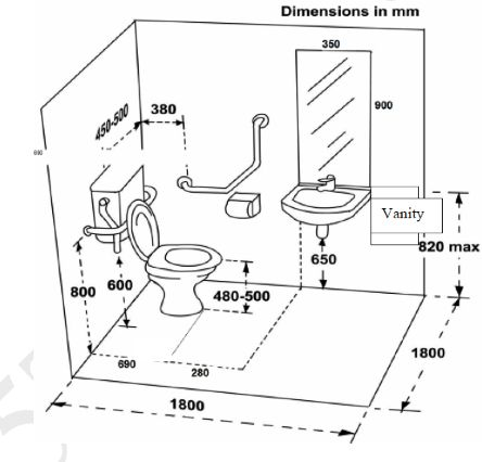 Standard width toilet room google search dimensions - Standard bathroom mirror dimensions ...