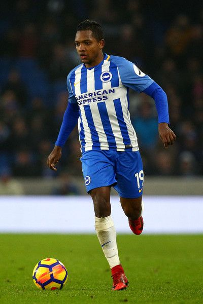 Jose Izquierdo of Brighton during the Premier League match between Brighton and Hove Albion and West Ham United at Amex Stadium on February 3, 2018 in Brighton, England.