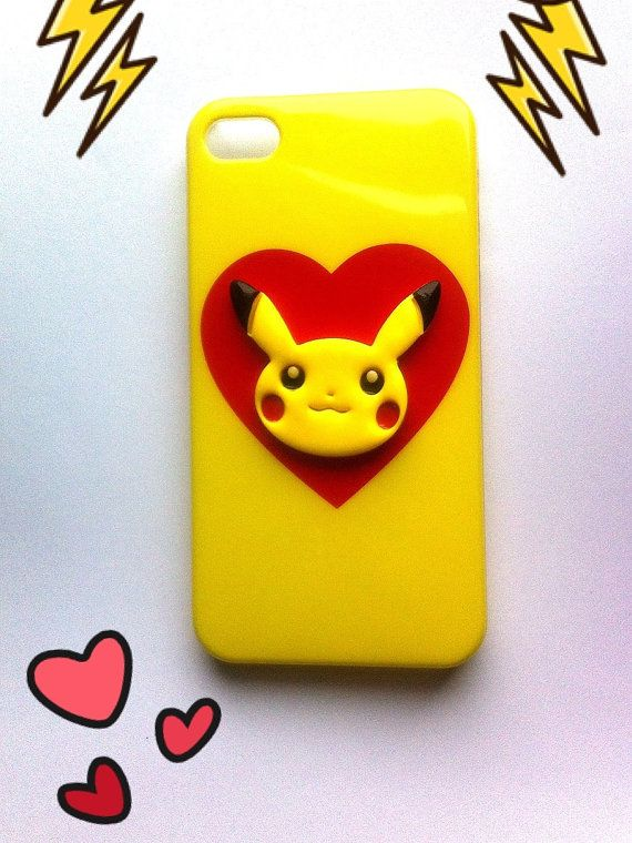 Pokemon Pikachu iPhone 4/4s Case with Heart