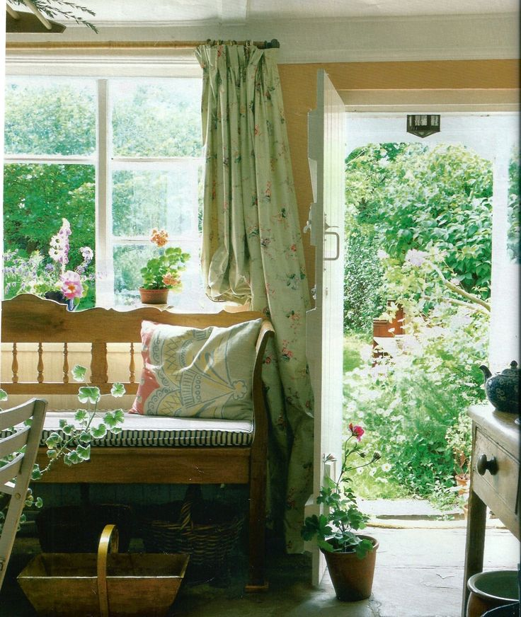 English Kitchen Garden: .minus The Floral Curtains And Yellow Walls. I Hate Yellow