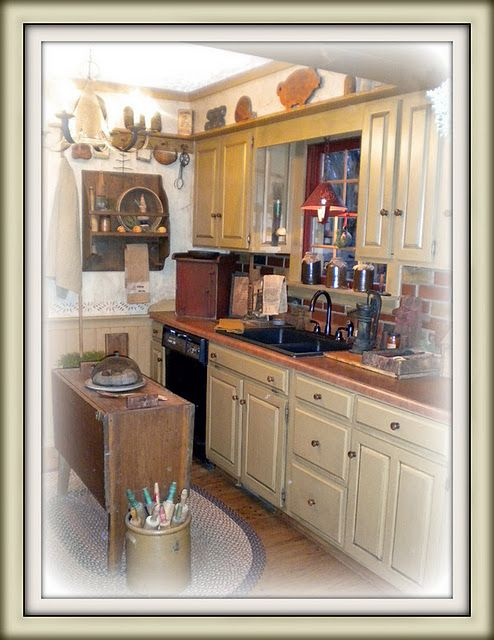 78 Best Images About Primitive Kitchens On Pinterest