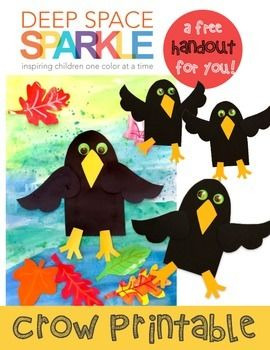 Need an easy solution for creating an Autumn-inspired bulletin board or perhaps an art project for the little ones? This happy crow is easy to make: just photocopy the template pattern onto card stock, cut out and allow your kids to trace onto black paper.