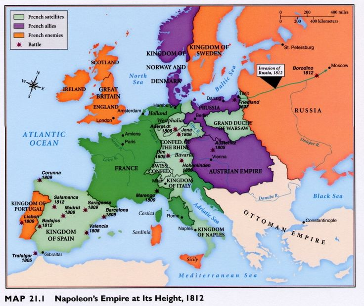 The French Revolution , Napoleon's Empire , Congress of Vienna