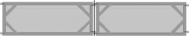 """Easy portable fence panels - use wire plant stakes for the hinges at the corners. We put bird netting over the top and hook it over the corner stakes. To enter the pen, slip out one of the corner stakes and the panel will open like a door. The panels shown are 8' long by 36"""" high. We have used chicken wire, vinyl coated wire, hardware cloth, and heavy netting. Hardware cloth is the sturdiest."""