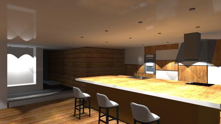 Projekt domu jednorodzinnego-widok na kuchnie