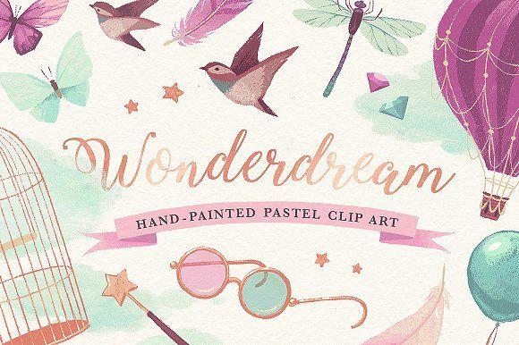 Wonderdream pastel clip art by Darumo Shop on @creativemarket