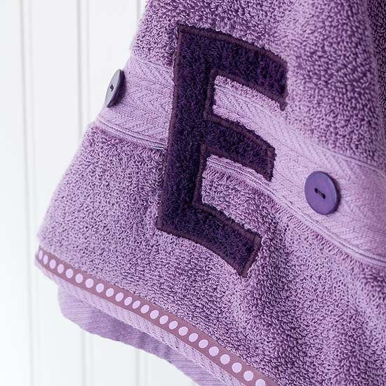 """Appliqued Monogram (made from contrasting colored washcloth) Towel~ fun """"kid friendly"""" personalized gift!!!"""