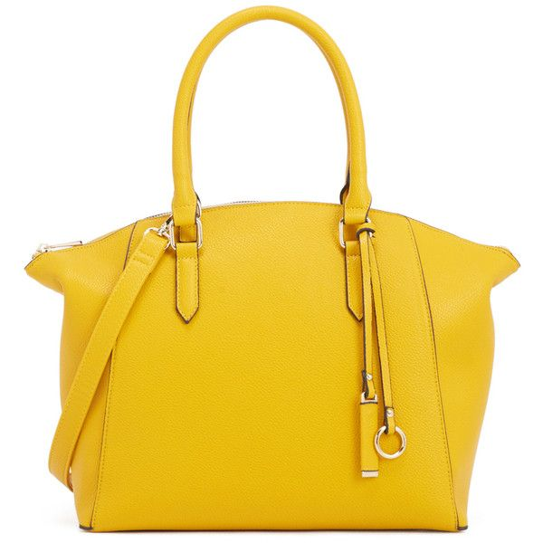 ShoeDazzle Bags Simon Womens Yellow ❤ liked on Polyvore featuring bags, handbags, shoulder bags, wallets & cases, yellow, man bag, structured handbags, shoulder bag purse, structured purse and handbag purse