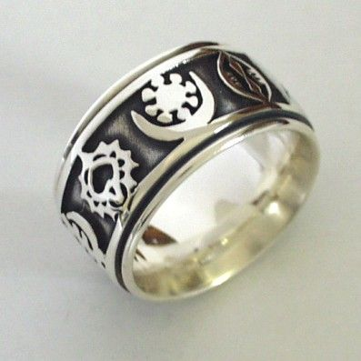 african wedding ring with unique african symbols - African Wedding Rings