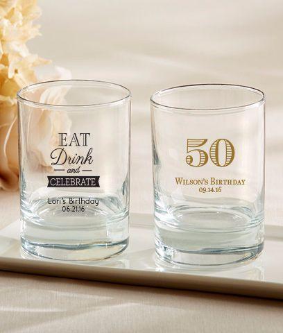 Rocks Glasses - Custom 50th Birthday Party Favors