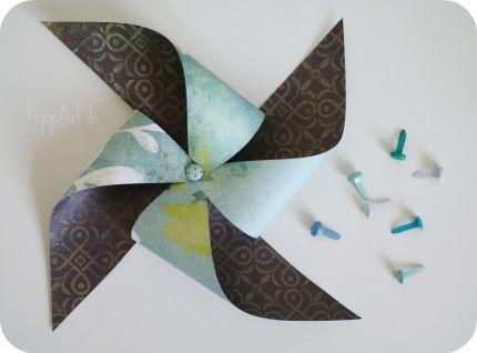 Windmühle aus Papier | Pinwheel DIY