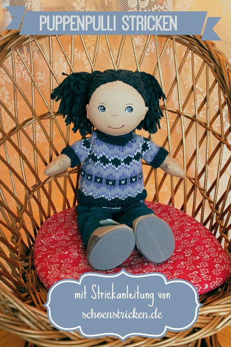 Puppen Pullover im Norwegermuster stricken - https://schoenstricken.de/2014/12/puppen-pullover-im-norwegermuster-stricken/