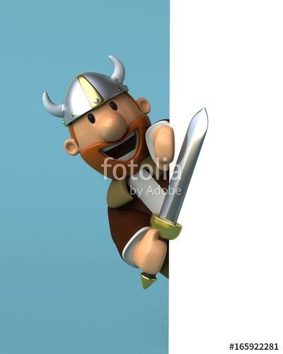 """Téléchargez la photo libre de droits """"Viking - 3D Illustration"""" créée par julien tromeur au meilleur prix sur Fotolia.com. Parcourez notre banque d'images en ligne et trouvez l'image parfaite pour vos projets marketing !"""