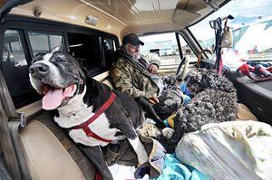 Joseph Davis assists with homeless encampment in Morgan Hill, CA.