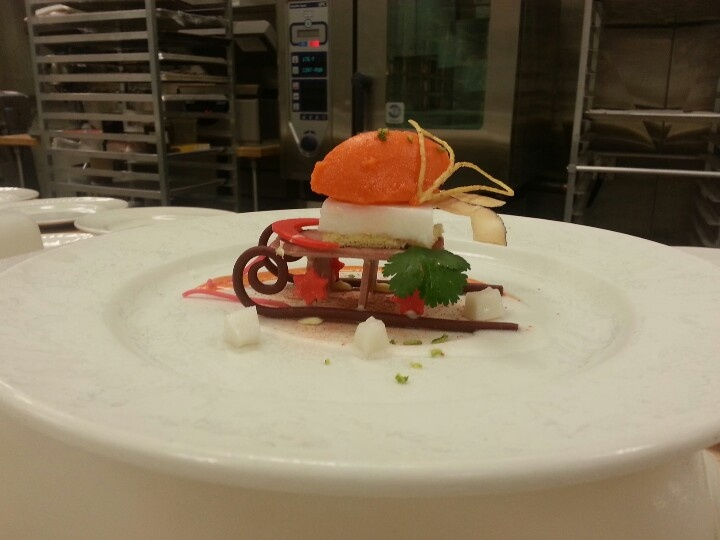 coconut and carrot dessert.  group effort by some awesome girls in class
