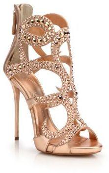 Giuseppe Zanotti Crystal-Studded Suede Sandals