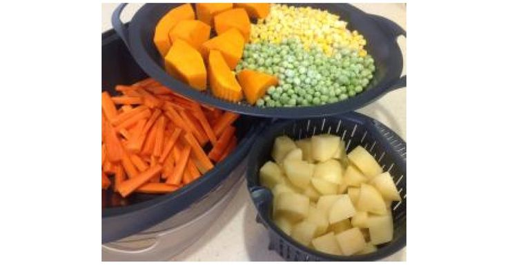 Mash potato and steamed veg