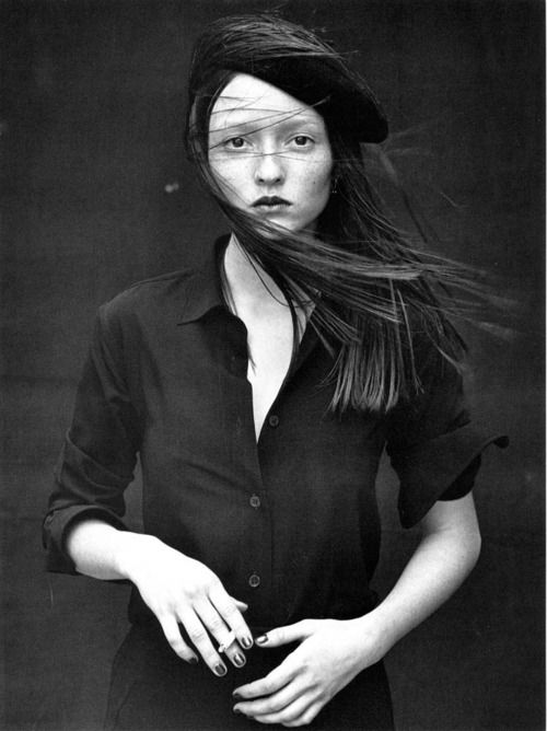 Audrey Marnay by Peter Lindbergh, 1997.