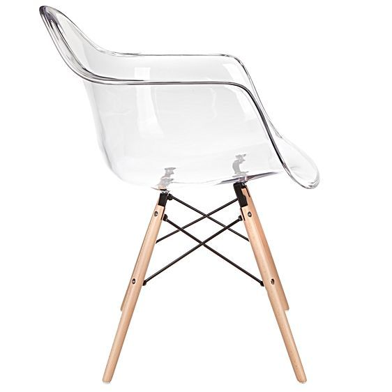 Have been dreaming of this chair for a little while now. With a faux fur thrown over the top. My new desk chair, just have to buy it! Replica Eames Eiffel DAW Clear Armchair by Replica Charles & Ray Eames