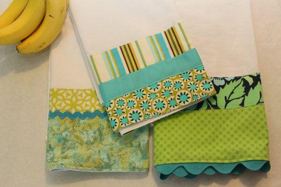 Aqua Kitchen Towels (flour sack, tea, hand towel), set of 3, blue green, butterfly, ocean colors, mothers gifthttp://www.etsy.com/listing/127523617/aqua-kitchen-towels-flour-sack-tea-hand?ref=shop_home_active
