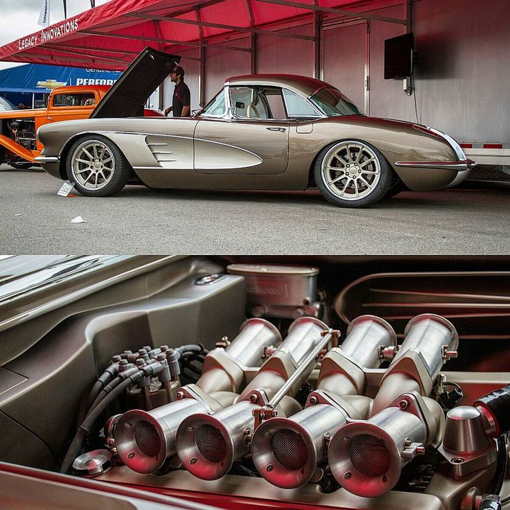 """Ken Cox on Instagram: """"The beautiful @legacy_innovations #protouring #chevy #chevrolet #corvette #vette #c1 rolling on #forgeline #wheels with #independentthrottlebodies #sportscar #carporn #classiccar #classicscene #hotrod #craftsmanship found at #ggppgcolumbus #columbus #goodguys #goodguyscolumbus #speedhunters features for @classicscene"""""""