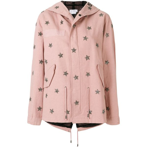 As65 glitter star jacket (5.990 BRL) ❤ liked on Polyvore featuring outerwear, jackets, real leather jackets, 100 leather jacket, pink jacket, pink leather jackets and glitter jacket