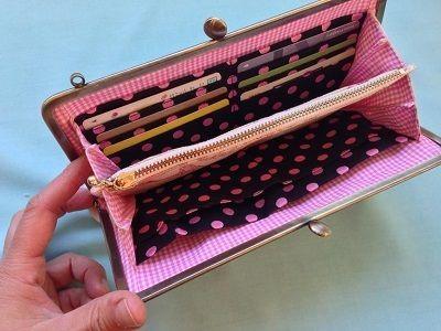 ★昨日長財布の撮影と袋詰めをしました。明日販売ページを作る予定です。 がま口の作り方♪手縫いで作る初めてのがま口【手作り屋万莉】
