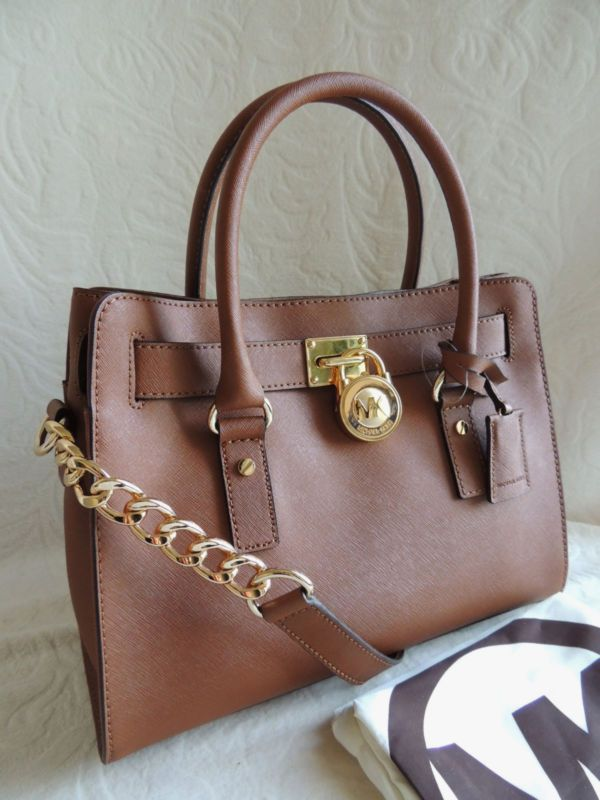 884bd8e22e9e Michael Kors Hamilton Saffiano Leather Satchel Bag