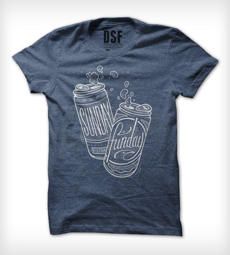 Blue Sunday Funday Beer T-Shirt | Men's T-Shirts | DSF Clothing Company and Art Gallery | Scoutmob Shoppe | Product Detail