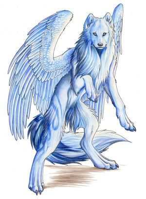 wolf wings anime ice wolves animals drawing fantasy mythical cartoon winged drawings dogs creatures google rp dragons fox arctic werewolf
