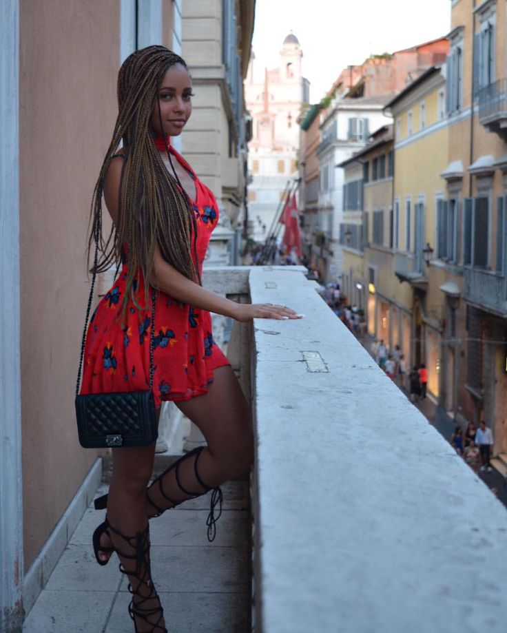"""Vanessa Morgan on Instagram: """"Taking in the view of the Spanish steps from the bedroom balcony was a dream ✨"""""""