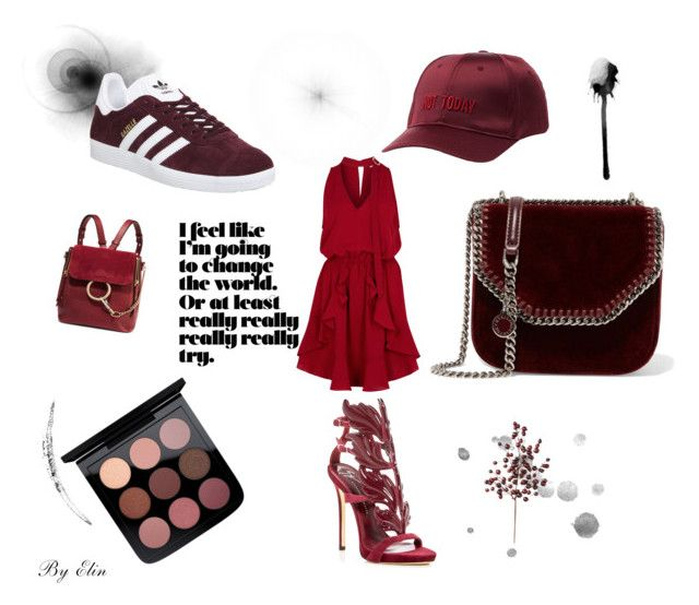 """""""The little red"""" by elinohrner on Polyvore featuring STELLA McCARTNEY, Giuseppe Zanotti, Frontgate, Charlotte Russe, Finders Keepers, Chloé and adidas"""