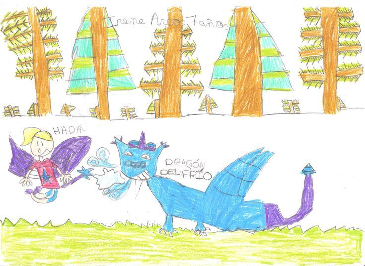 """El Dragón de Frío. Dibujo presentado por """"Irene Arcos"""" para el concurso de dibujo de """"El Dragón de Frío"""". El Dragón de Frío, el más famoso de los dragones de hielo.  http://www.amazon.es/gp/product/8490768277?keywords=El+Drag%C3%B3n+de+Fr%C3%ADo&qid=1441637100&ref_=sr_1_2_twi_pap_2&sr=8-2"""