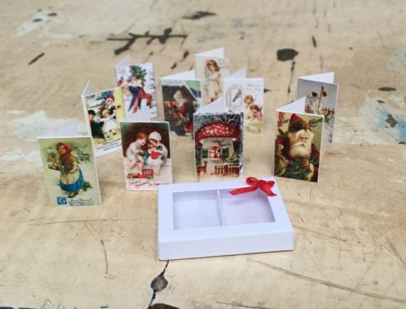 Dollhouse Miniature Christmas cards