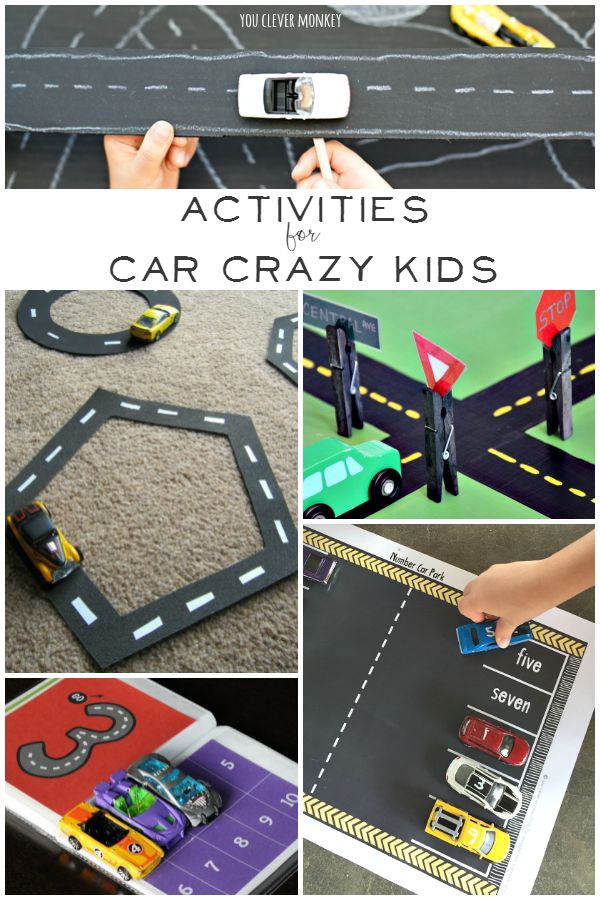 Activities for Car Crazy Kids - use your toy car collection to its full potential with this amazing list of activities to do with cars. Plenty of ideas for maths, literacy, early science, pretend play along with arts and craft ideas to try at home and in
