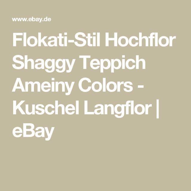 Flokati Stil Hochflor Shaggy Teppich Ameiny Colors
