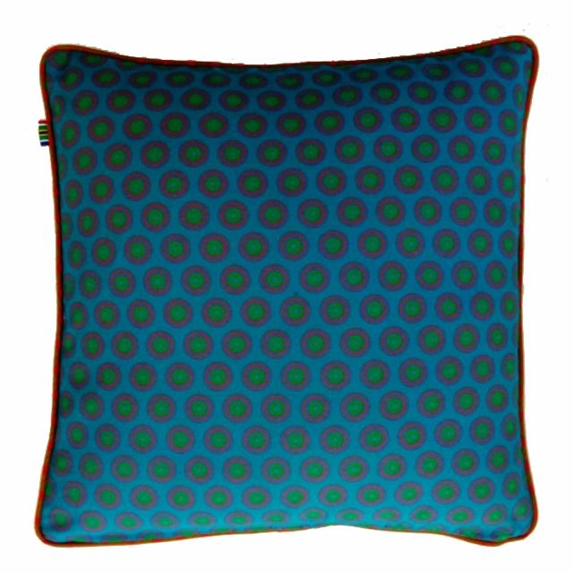 BLUE Cushion Cover - 100% cotton Shweshwe, 100% Handmade