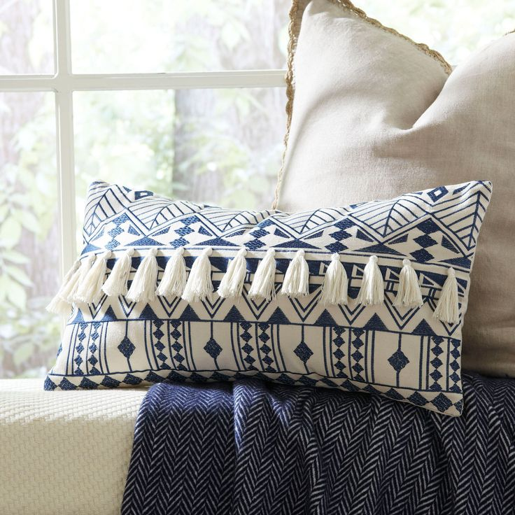 Matea Embroidered Pillow: $39