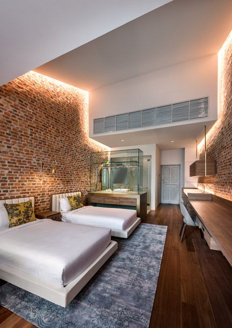 Loke Thye Kee Residences by Ministry of Design | Love the open brick walls and the modern fixtures