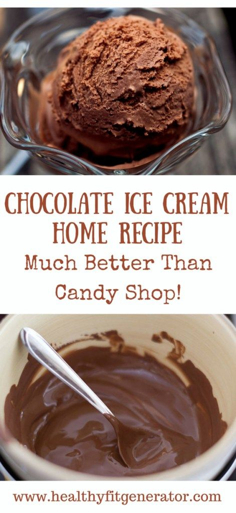 Chocolate Ice Cream Home Recipe – Much Better Than Candy Shop!
