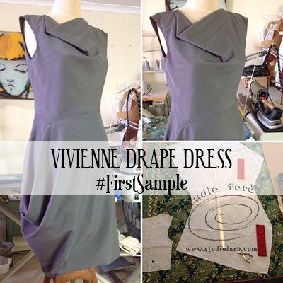 Vivienne #DrapeDress: blog post, workshop and pattern. :) http://www.studiofaro.com/well-suited/pattern-puzzle-vivienne-drape-dress #Sydney http://www.studiofaro.com/book-project-based-workshops