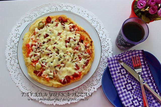 Tombul Tarifler, pratik yemek, yöresel tat, kek, kurabiye, börek, çorba, hamurişi ve diğerleri...: Tavada Yufka Pizzası