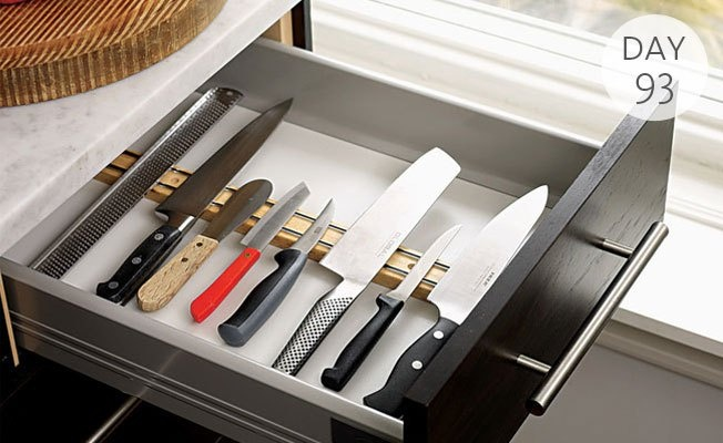 Organization Tip Of The Day: Use Magnetic Strips To Store