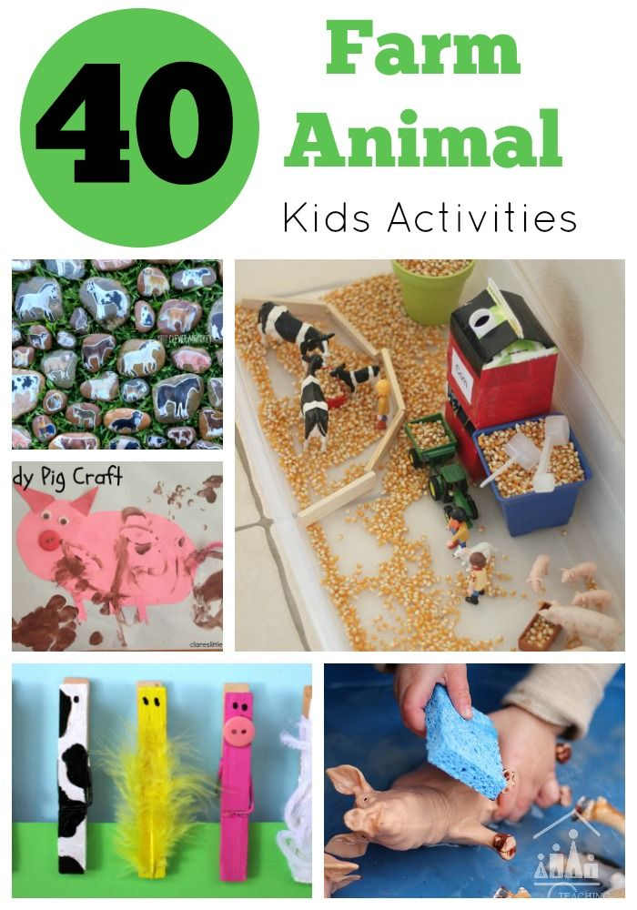 40 Fantastic Farm Animal Activities for Kids. Who doesn't like farm animals? Farm animal crafts for kids are so much fun, especially for the younger kids when you are doing a Farm animal theme in preschool or at home.