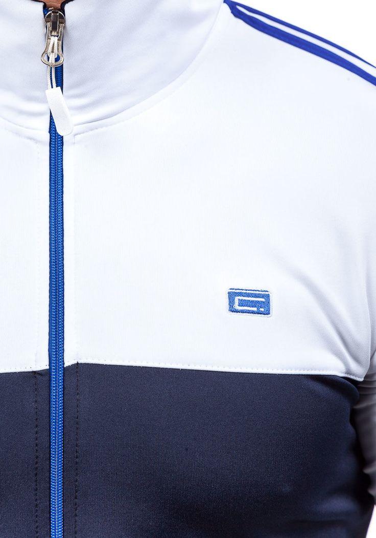 Granatowo-biały dres męski Denley 930