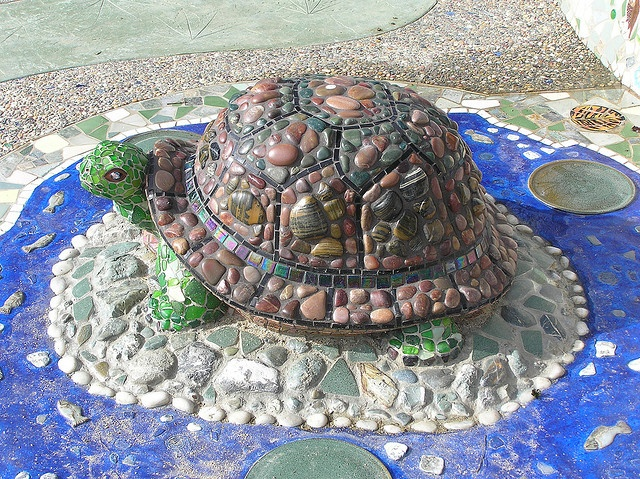 A most beautiful mosaic turtle