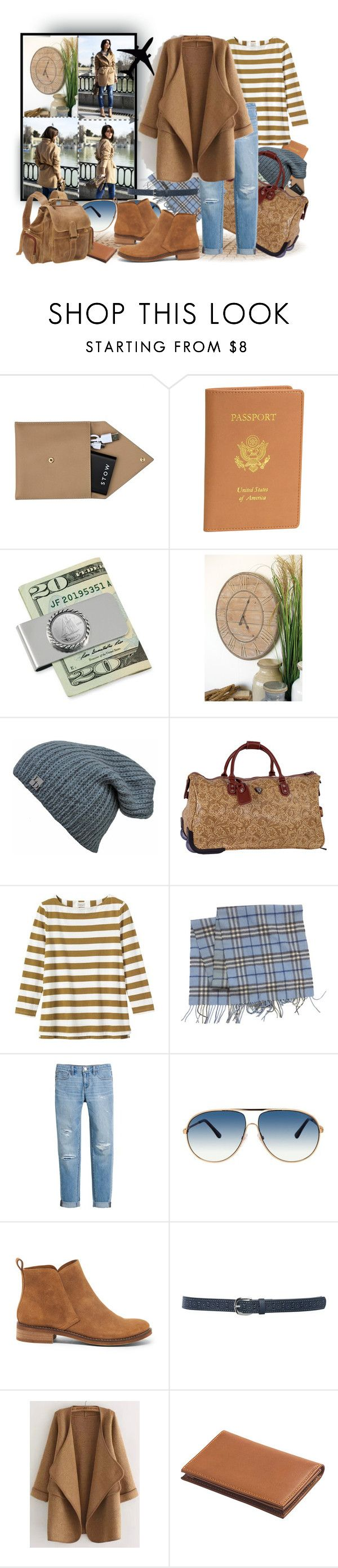 """The color of the desert and the sea"" by tasha1973 ❤ liked on Polyvore featuring STOW, Royce Leather, American Coin Treasures, Thos. Baker, CalPak, Toast, Burberry, White House Black Market, Tom Ford and Lucky Brand"