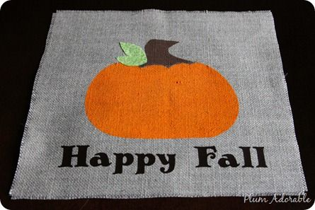Burlap Pumpkin Placemats: Burlap Placemats, Burlap Pumpkins, Painted Pumpkin, Pumpkin Placemat, Fall Fun, Pumpkin Burlap 11, Fun Projects, Burlap Projects, Place Mats
