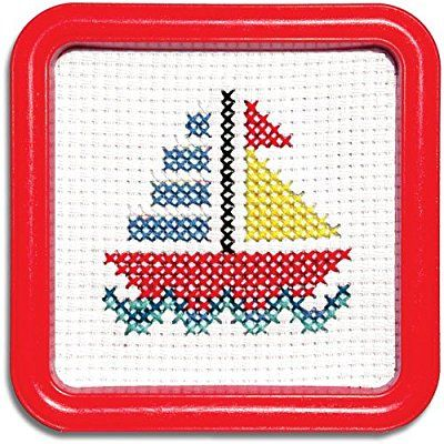 Easy Street Little Folks Sail Boat Counted Cross-Stitch Kit